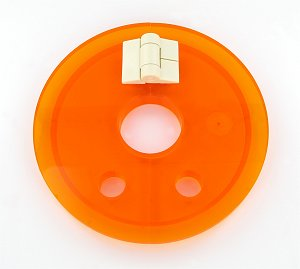 Amber Hinged Cover with Large Center Hole for Easy Basket Access includes Cap for Distek Baths