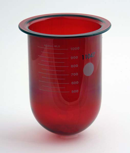1000mL Amber Glass Vessel for Distek, No Ring, Serialized