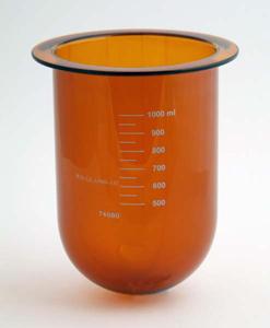 1000mL Amber Glass Vessel for Hanson SR8-Plus, Serialized