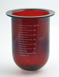 1000mL Amber Glass Vessel for Agilent/VanKel/Varian, Serialized