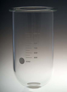1000mL Clear Glass Vessel for Sotax, Serialized