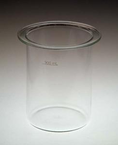 900mL Clear Glass Disintegration Beaker with Flat Top