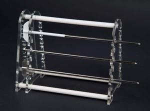 12 Position Paddle/Basket Shaft Holder (Captured Style)