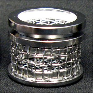 10 Mesh Sinker Basket with Lid, 316 SS