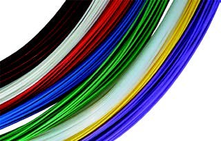 Color-Coded Sample Tubing, PTFE, .040″ (1.02mm) ID x .066″ (1.68mm) OD [8 Lengths of 50′ (15m)]