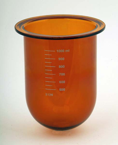 1000mL Amber Glass Vessel for Erweka, Serialized