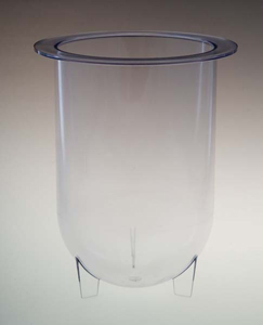 1000mL Clear Plastic Footed Vessel for Erweka
