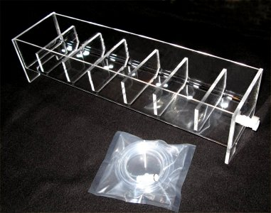 6 Position Acrylic Rinse Tray for VanKel/Varian