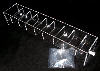 8 Position Acrylic Rinse Tray for VanKel/Varian